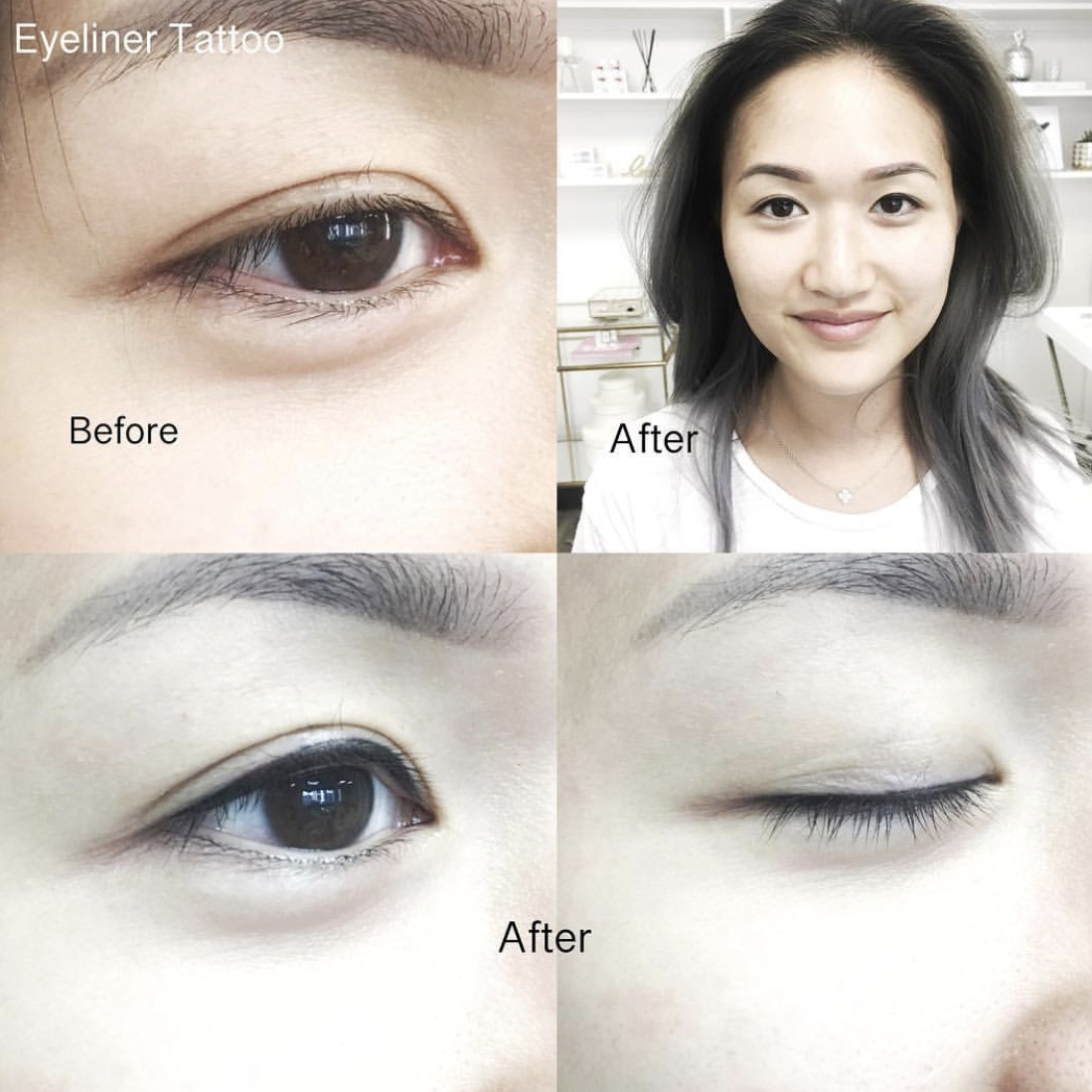 semi-permanent makeup: eyeliner -